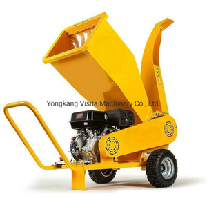 18HP Gasoline Engine Wood Chipper Shredder Machine, Branch Chipper Shredder